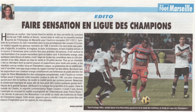 Edito du Foot Marseille