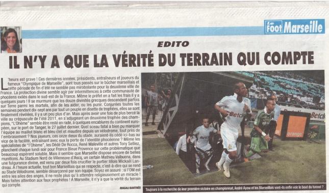 Edito Le Foot Marseille
